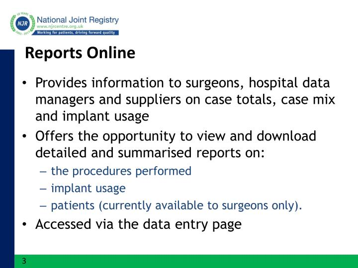 Reports Online