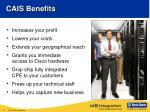 cais benefits