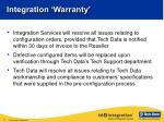 integration warranty