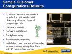 sample customer configurations rollouts