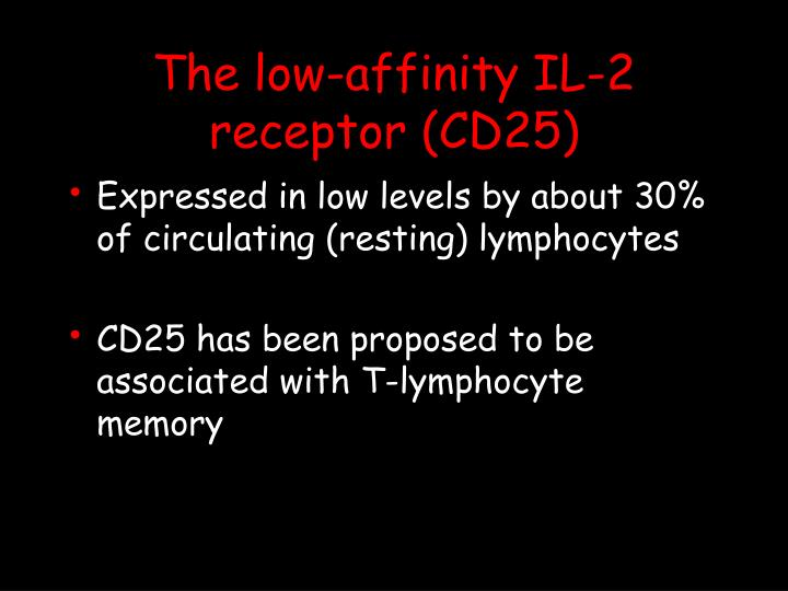 The low-affinity IL-2 receptor (CD25)