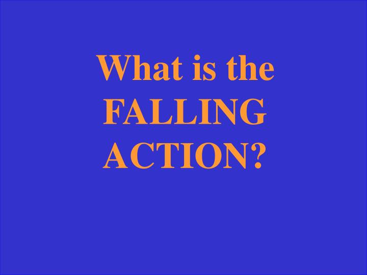 What is the FALLING ACTION?