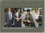 public image important issue for private security companies1