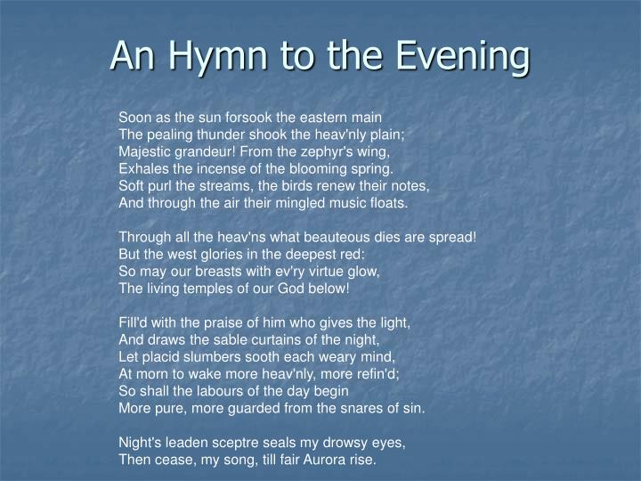 An Hymn to the Evening