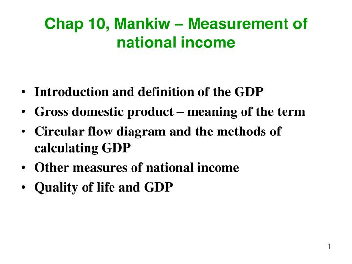 methods of measuring national income ppt