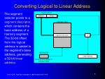 converting logical to linear address