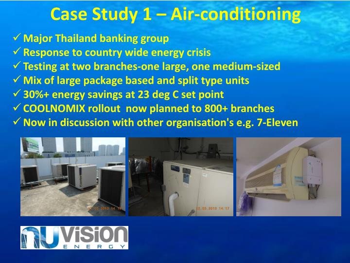 Case Study 1 – Air-conditioning