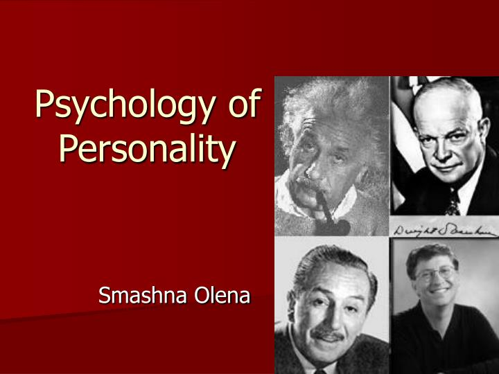 psychology of personality n.