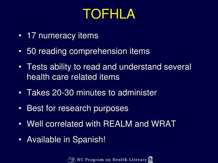TOFHLA