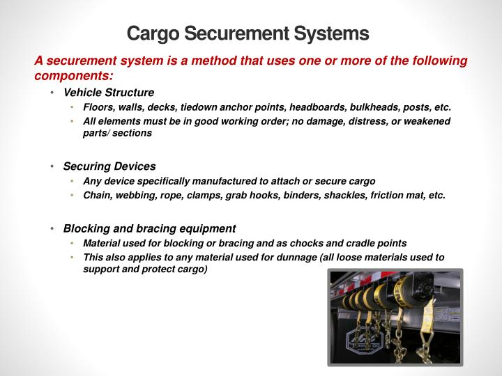 Cargo Securement Systems