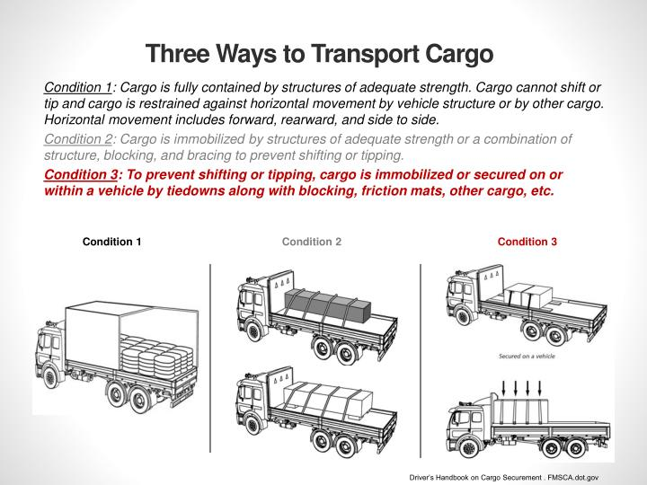 Three Ways to Transport Cargo