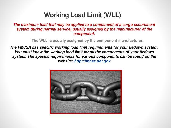 Working Load Limit (WLL)
