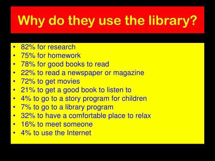 Why do they use the library?