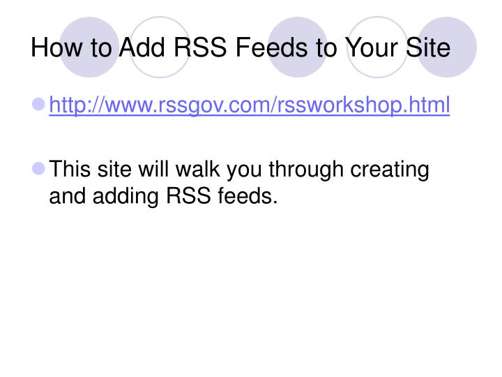 How to Add RSS Feeds to Your Site