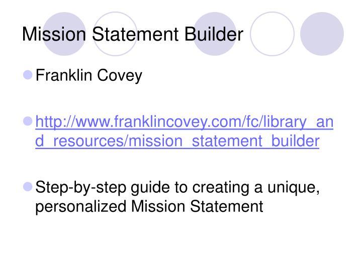 Mission Statement Builder