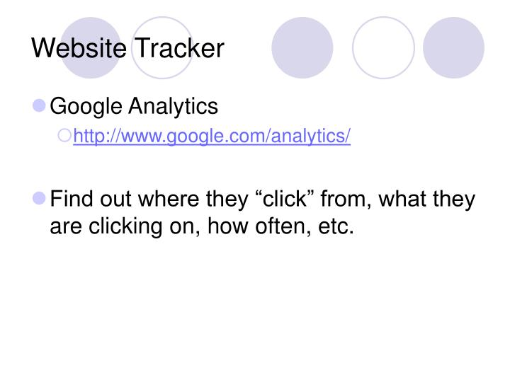 Website Tracker
