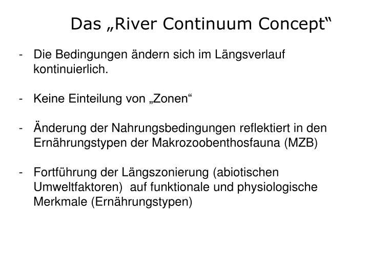 "Das ""River Continuum Concept"""