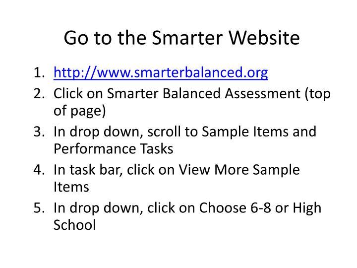 Go to the Smarter Website
