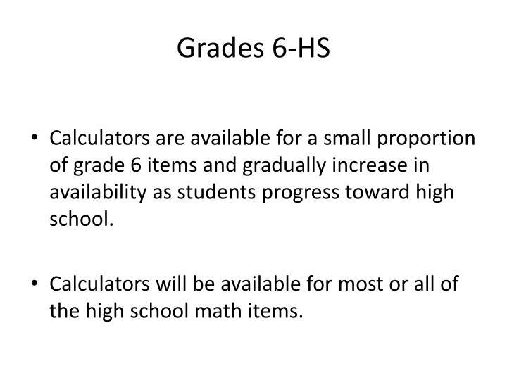 Grades 6-HS