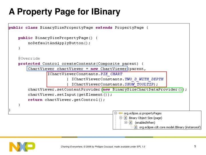 A Property Page for IBinary