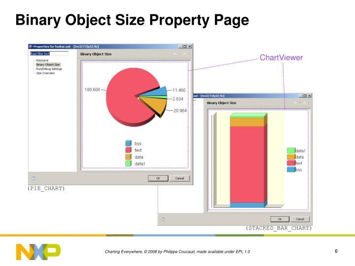 Binary Object Size Property Page