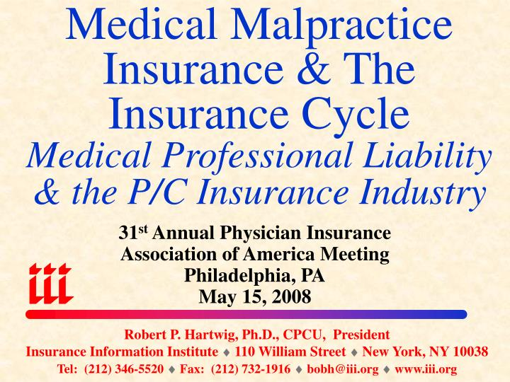 Medical Malpractice Insurance & The