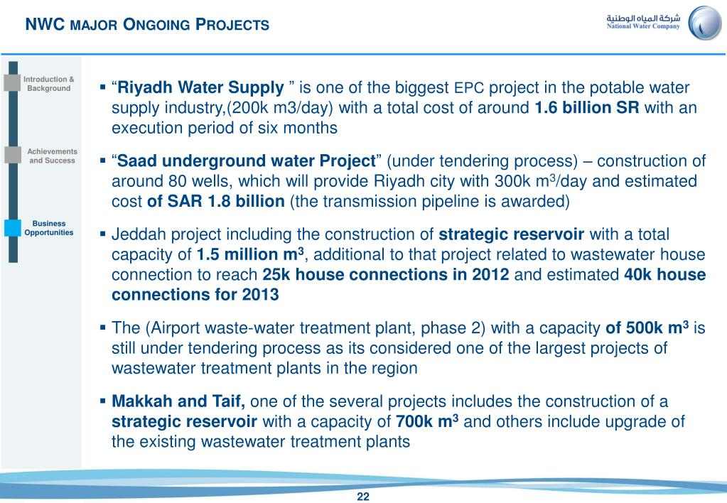 PPT - Opportunities in Saudi Arabian Water & Wastewater