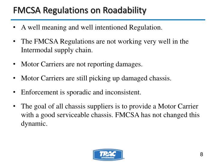 FMCSA Regulations on Roadability