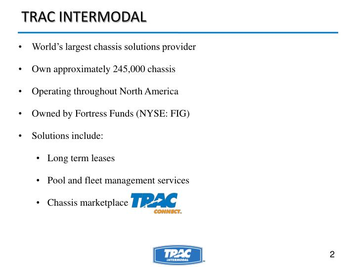 World's largest chassis solutions provider