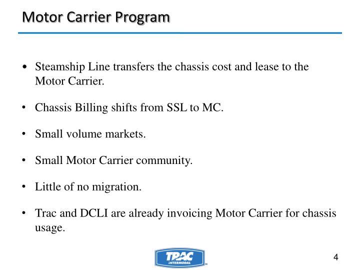 Motor Carrier Program