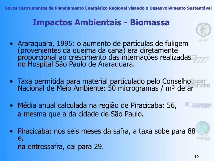 Impactos Ambientais - Biomassa