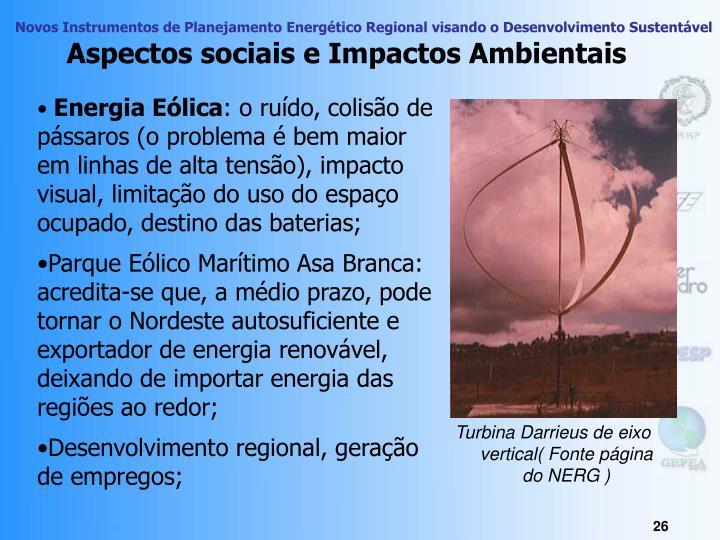 Aspectos sociais e Impactos Ambientais