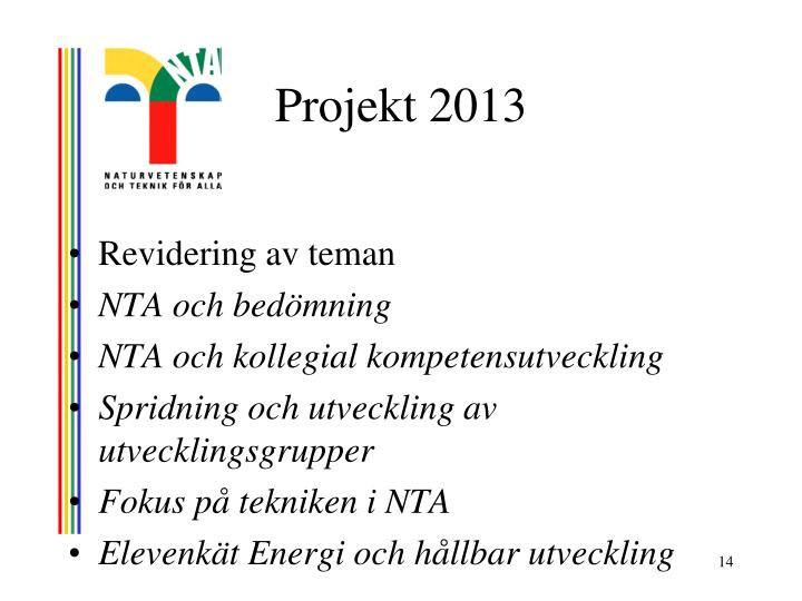 Projekt 2013