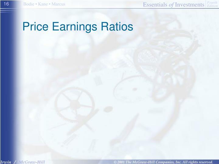 Price Earnings Ratios