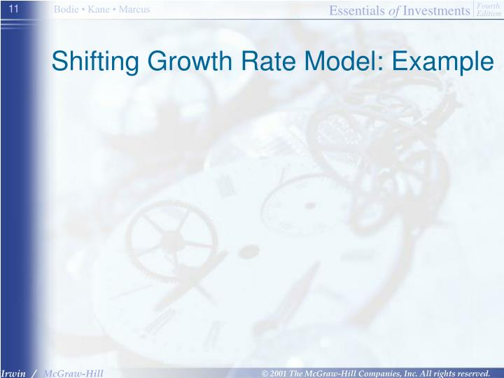 Shifting Growth Rate Model: Example