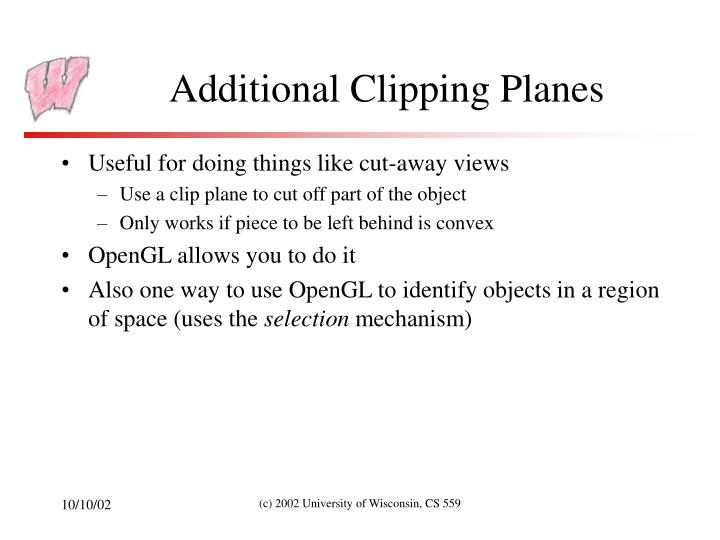 Additional Clipping Planes