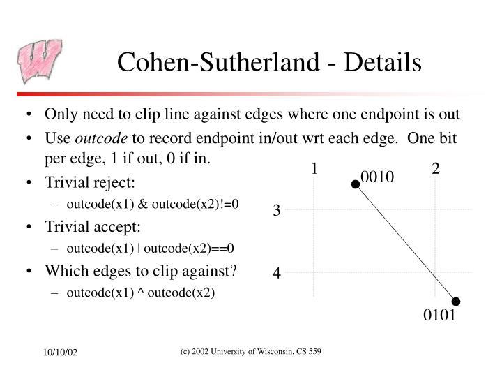 Cohen-Sutherland - Details