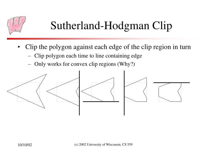 Sutherland-Hodgman Clip