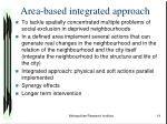 area based integrated approach