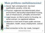 main problems multidimensional