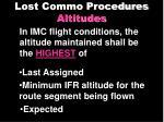 lost commo procedures altitudes