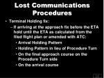 lost communications procedures1