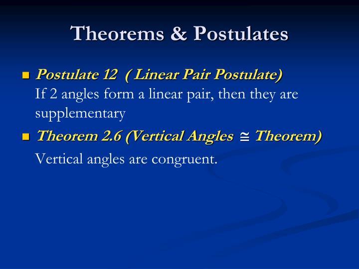 Theorems & Postulates