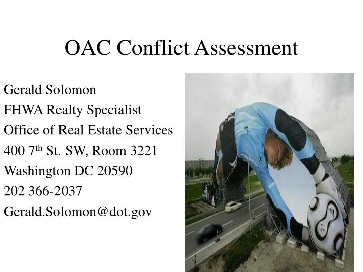 Oac conflict assessment