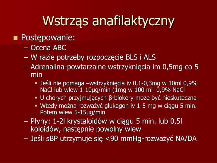 Wstrząs anafilaktyczny