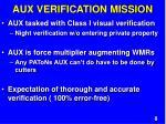 aux verification mission