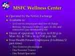 msfc wellness center1