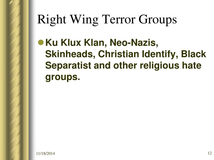 Right Wing Terror Groups