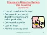 changes in digestive system due to aging continued