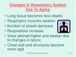 changes in respiratory system due to aging